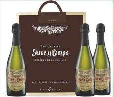 Červené víno 3 Juvé  de La Familia en caja de madera